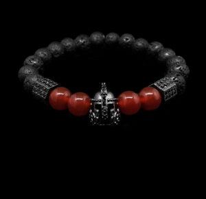 Volcano II. - Láva vörös acháttal és cirkóniával