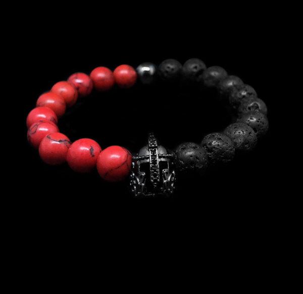 Volcano IV. - Láva és vörös howlit karkötő