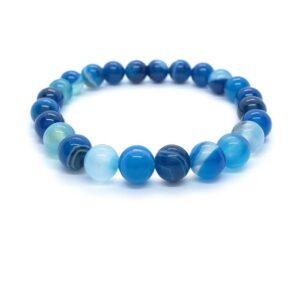 Waterfall - Kék achát karkötő
